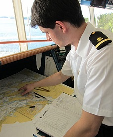Apprentice Deck Officer on cruise ship