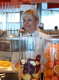 Cruise ship buffet attendant