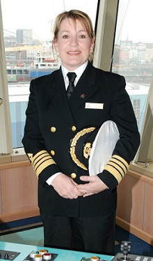 Captain Olsen - the first female Master in the history of Cunard Line