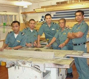Cruise ship carpenters