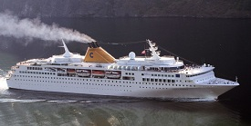 Costa Voyager cruise ship employment