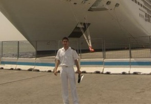 Cruise ship engine cadet