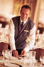 Cruise ship waiter