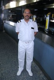 Cruise ship assistant bar supervisor