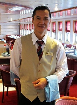 Cruise ship head waiter