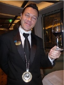 Cruise ship sommelier
