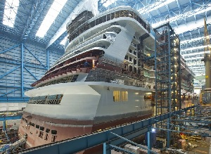 NCL Norwegian Breakaway in the shipyard