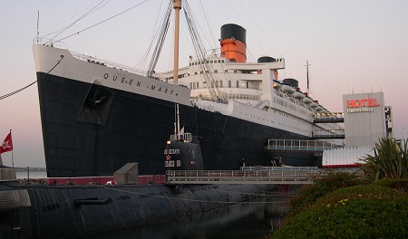 Queen Mary hotel in Long Beach, California