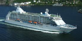 Seven Seas Voyager cruise ship.