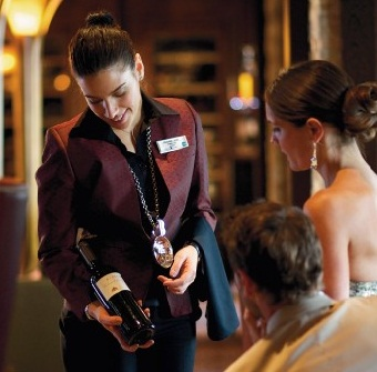 Cruise ship sommelier - specialty restaurant