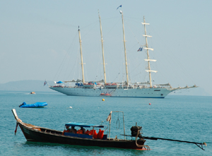 Star Flyer sailing ship-Hong island, Andaman Sea