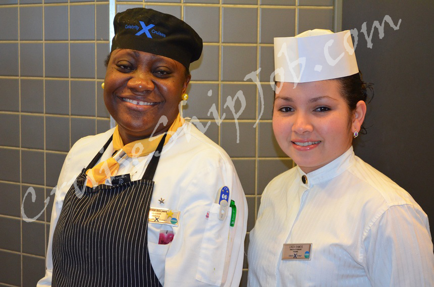 Cruise ship crew members photos - Thired Cook and Snack Attendant aboard Celebrity Milennium