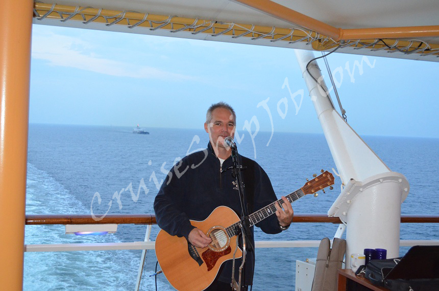 Celebrity Cruises Musician Entertaining Passengers On The