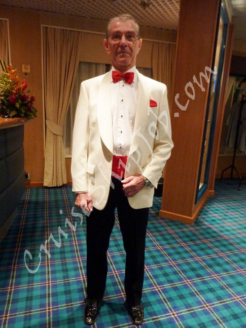 Hired cruise job seekers photos - Gentleman Dance Host aboard Silversea Cruises ship.