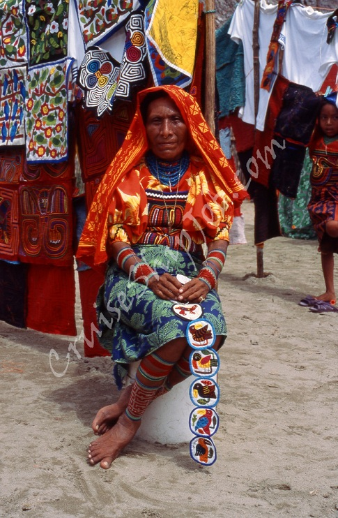 Kuna Indian photographed by Crystal Cruises crew member on San Blass Islands