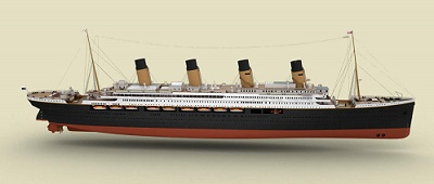 Titianic 2 scale model